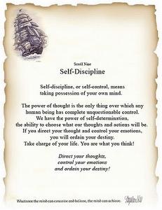 Self -dicipline