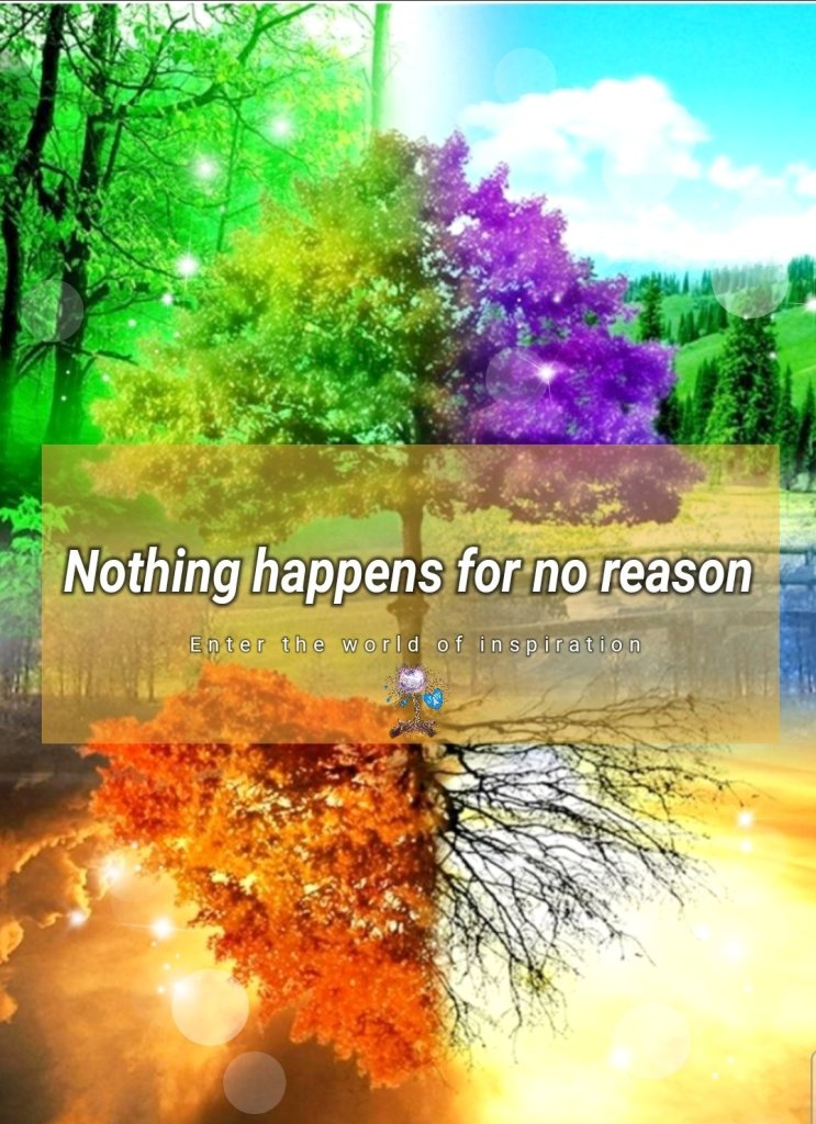 nothing happens for no reason